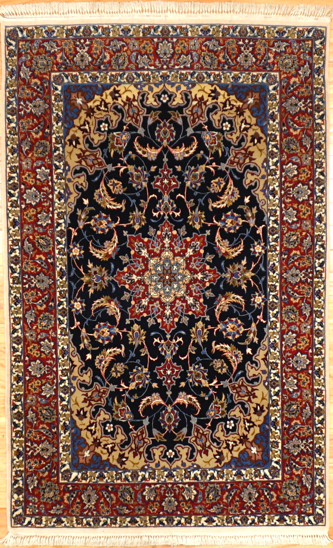 Q Small Traditional Fine Persian Rug